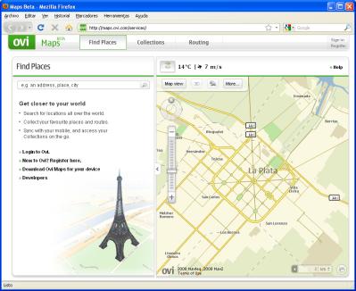 Mapas de Nokia disponibles para consultar en Internet