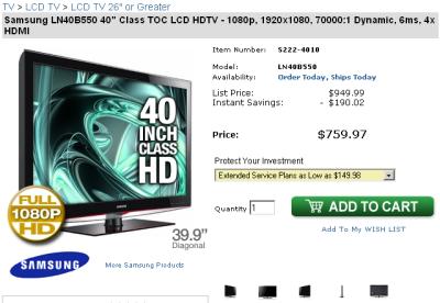 TV LCD en EE.UU.