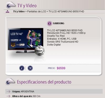 TV LCD en Frávega