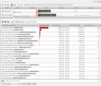Resultado del Profiling de NetBeans
