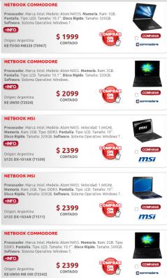 Netbooks en Argentina