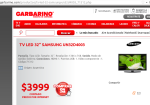 SAMSUNG LED TV 32, USD 925,69 (en Argentina)